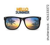vector summer beach  with... | Shutterstock .eps vector #426133372