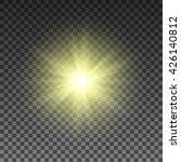 yellow sun rays on transparent... | Shutterstock .eps vector #426140812
