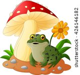 cute frog with mushrooms | Shutterstock . vector #426146182