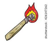 freehand textured cartoon... | Shutterstock .eps vector #426147262