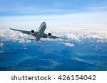 passenger airplane in the... | Shutterstock . vector #426154042