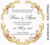 invitation or wedding card with ... | Shutterstock .eps vector #426154966