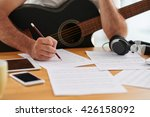 close up image of composer... | Shutterstock . vector #426158092