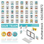 mega set of flat avatars with... | Shutterstock .eps vector #426158872