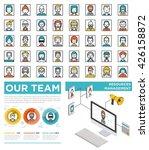 mega set of flat avatars with... | Shutterstock .eps vector #426158872