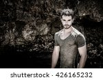 attractive young athletic man... | Shutterstock . vector #426165232