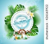 vector enjoy the summer holiday ... | Shutterstock .eps vector #426165922