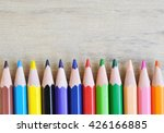 close up stack colour pencils...   Shutterstock . vector #426166885
