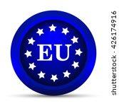 european union icon. internet... | Shutterstock . vector #426174916