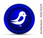 bird icon. internet button on... | Shutterstock . vector #426176125