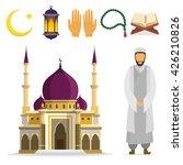 set of islamic religious...   Shutterstock .eps vector #426210826