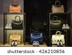 shoes and handbags in a luxury... | Shutterstock . vector #426210856