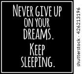 inspirational quotation on... | Shutterstock .eps vector #426213196