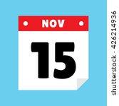 calendar icon flat november 15
