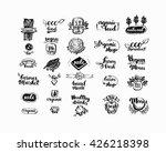 hand drawn farm fresh logo set. ...   Shutterstock .eps vector #426218398