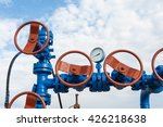 production wellhead with valve... | Shutterstock . vector #426218638