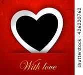 Love Card Template With Blank...
