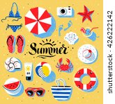 vector summertime top view... | Shutterstock .eps vector #426222142