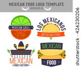 mexican food logo. logo design... | Shutterstock .eps vector #426230206