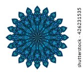 round mandala. blue floral... | Shutterstock .eps vector #426231535