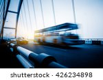 motion blurred traffic on the... | Shutterstock . vector #426234898
