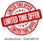 limited time offer. stamp | Shutterstock .eps vector #426238576