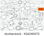 comic blank text speech clouds...   Shutterstock .eps vector #426240472