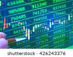 display of stock market quotes. ... | Shutterstock . vector #426243376