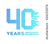 40 years anniversary with a... | Shutterstock .eps vector #426252076