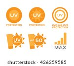 uv protection logo and icon   6 ... | Shutterstock .eps vector #426259585