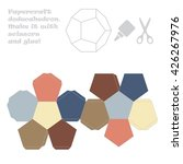 paper craft dodecahedron | Shutterstock .eps vector #426267976