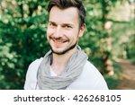 portrait of handsome and... | Shutterstock . vector #426268105