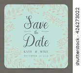 save the date  wedding... | Shutterstock .eps vector #426273022