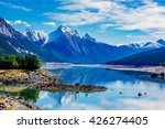 Medicine Lake is located within Jasper National Park, Alberta, Canada. It is located 20 km southeast of the townsite of Jasper, Alberta. Medicine Lake is 7 km long and is a shallow lake.