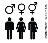 set of gender symbols.male ... | Shutterstock .eps vector #426274528