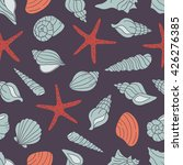 seashells icon seamless pattern ... | Shutterstock .eps vector #426276385