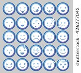 blue circle emoticon vectors | Shutterstock .eps vector #426277042