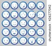 blue circle emoticon vectors | Shutterstock .eps vector #426277042