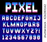 pixel retro font video computer ...