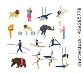 vector set of circus artists ... | Shutterstock .eps vector #426285778