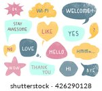 speech and thought bubbles set  ... | Shutterstock .eps vector #426290128