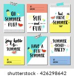 Vector Set Of Summer Holiday...