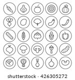 set of isolated high quality... | Shutterstock .eps vector #426305272