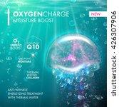 oxygen underwater jellyfish ... | Shutterstock .eps vector #426307906