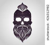 bearded skull vector | Shutterstock .eps vector #426312982