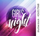 night party typography design....   Shutterstock .eps vector #426317068