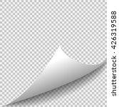 curl corner paper template.... | Shutterstock .eps vector #426319588