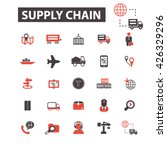 supply chain icons  | Shutterstock .eps vector #426329296