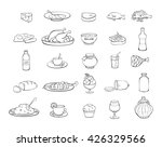 food icons set  food icon vector | Shutterstock .eps vector #426329566