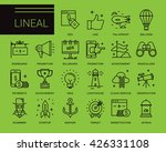 line vector icons in a modern... | Shutterstock .eps vector #426331108